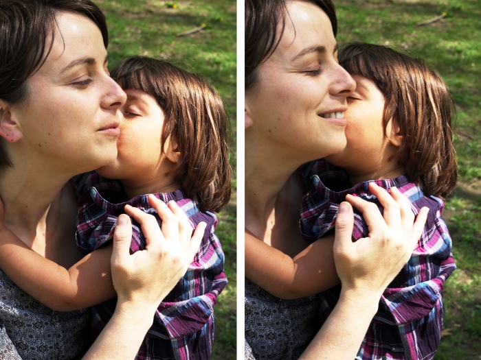 Estelle et Nina bisou